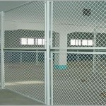 indoor warehouse chainlink fence