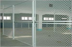 indoor warehouse chainlink fence dallas security fencing