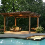 Arbor with Recessed Lighting