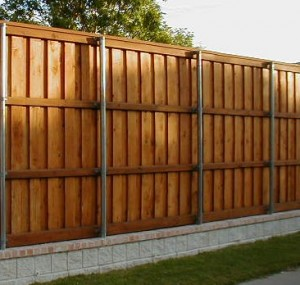 8 ft Cedar Board on Board Fence Fort Worth TX