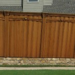 Privacy Fence w/ Arched Trim, Custom Boxed Posts, Corbels, and Stacked Trim