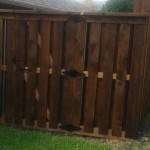 Shadow Box Style Cedar Fence