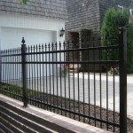 Metal Fence with Decorative Top (Finials)