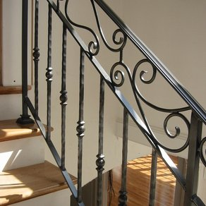wrought iron handrail Fort Worth iron fence