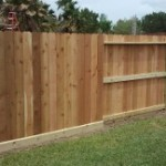 """Good Neighbor"" Style Fence in The Woodlands"