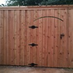 Cedar Privacy Fence w/ Custom Gate Prior to Staining