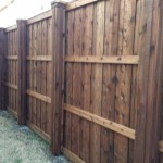 Privacy Fence w/ Boxed in Metal Posts