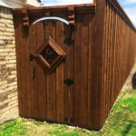 Custom Privacy Fence Gate w/ Ornament