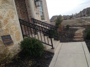 custom iron handrail installation stairway railing