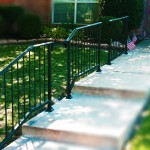 iron handrails stair railing