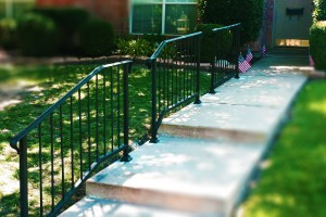 iron handrails stair railing handrail installation