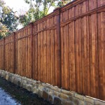 Custom Privacy Fence w/ Added Trim