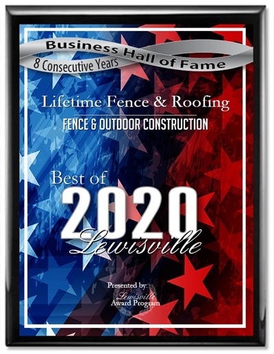 Lifetime Fence Company Lewisville WIns Best Fence Company in Lewsiville TX