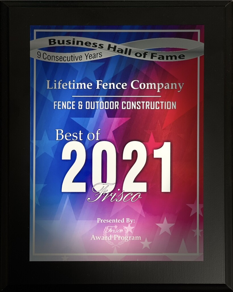 Lifetime Fence Wins Best Fence Company in Frisco TX